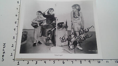 Hand Signed Autograph Joy Lane from Our Gang Mike Fright Little Rascals