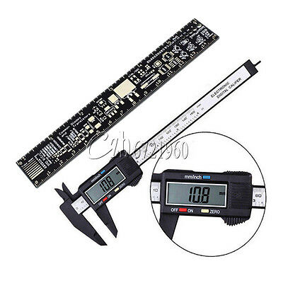 PCB Ruler for Electronic Engineers+LCD Electronic Carbon Fiber Vernier Caliper