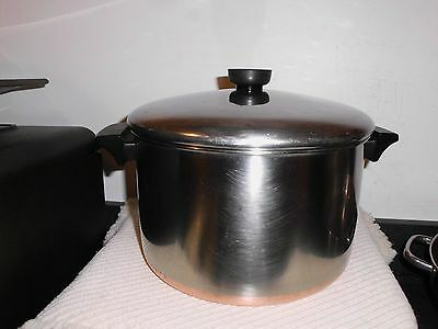 Revere Ware Stainless Steel 6  Quart Stock Pot with Lid