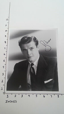 Hand Signed Autograph Roger Moore of James Bond Fame (pic of him young)