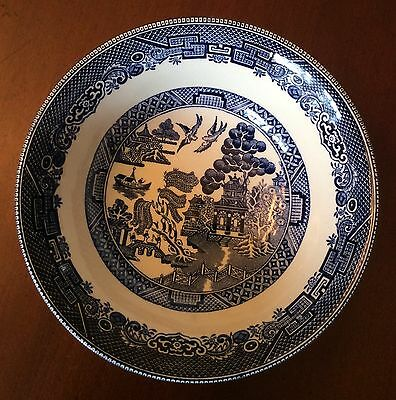"""JOHNSON BROTHERS LOT of 7 BLUE WILLOW 6"""" COUPE CEREAL BOWL ENGLAND EARTHENWARE"""