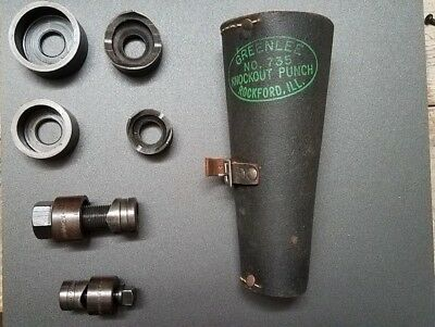 """Greenlee 735 ½"""" - 1¼"""" Knockout Punch Set w/Leather Case"""