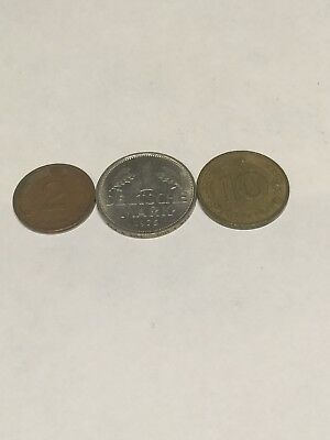 German 3 Coin Lot 1975, 1982, 1972