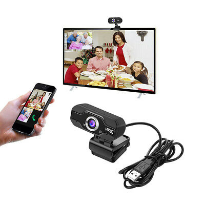 USB Wired Web Camera 720P HD Computer Tablet Pads Webcams w/ Built-in Microphone