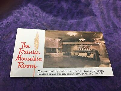 Vintage Rainier Beer Brewery Managers Business Card!