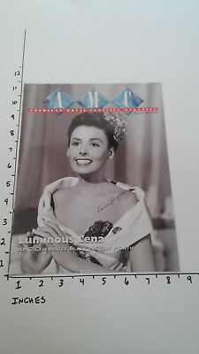 Hand Signed Autograph Lena Horne on AMC Mag Cover