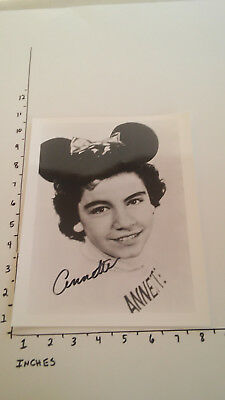 Hand Signed Autograph Annette Funicell of Mickey Mouse Club Fame