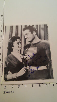 Hand Signed Autograph Noel Neill of Original Superman (next to ) George Reeves