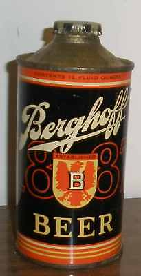 B/o! Cone Top Beer Can Berghoff Low/pro Goldish Top On Grade About 1 Nice Color