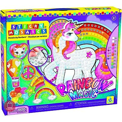 Arts And Crafts For Girls Boys 8-10 11 12 Year Old Toys Sticky Mosaics Rainbow