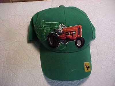 John Deere Baseball Style Hat W/ Orange Tractor and Ghosted Tractor