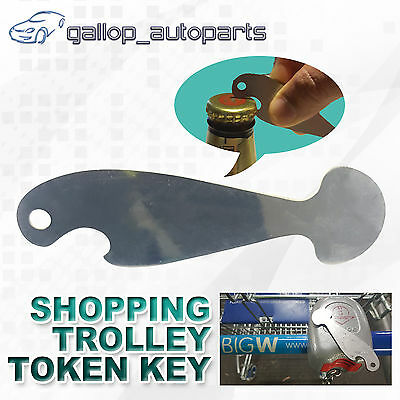 Retractable Shopping Trolley Coin Token Key Aldi Coles Safeway No Coin Unlocker