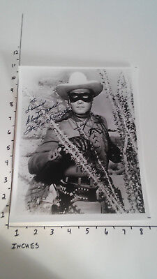 Hand Signed Autograph Clayton Moore The Lone Ranger Actor