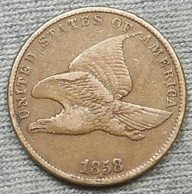 1858 SL Flying Eagle Small Cent