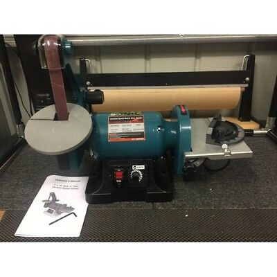 Heavy Duty Variable Speed Belt & Disc Sander/Sharpener
