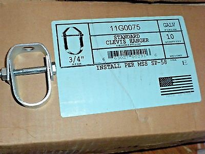 10 Pieces: Empire Pipe & Cable Hanger Clevis 11G0075 3/4
