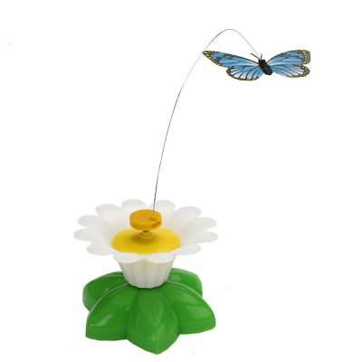 Pet Electric Rotating Butterfly Flower Colorful Cat Teaser Wire Interactive Toy