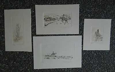 4 Etchings by Sandy Ingersoll (1908-1989) Studied With O.C.Seltzer Western Art
