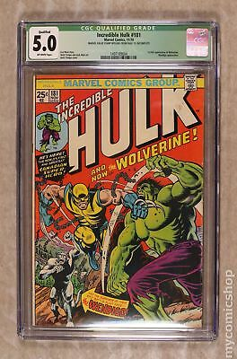 Incredible Hulk (1st Series) #181 1974 CGC 5.0 QUALIFIED 1497189004