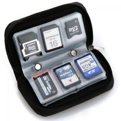 Camera Memory Card SD TF Storage Case Carrying Pouch Bags Holder Organizer