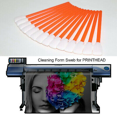 50 PCS - Cleaning Foam Swabs for Solvent Roland Mimaki Mutoh Epson Printhead