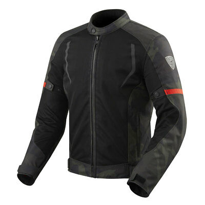 Rev'it! Torque Black / Army Green Moto Motorcycle Touring Jacket | All Sizes