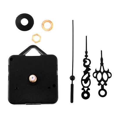 Silent Vintage Retro Quartz Clock Movement Black Hands Parts Replacing Kit DIY