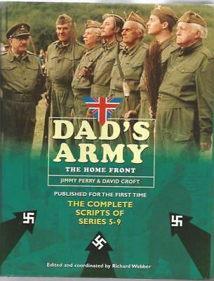 DADS ARMY - Hardback book multi-signed by (10) of the cast 'The Home Front'