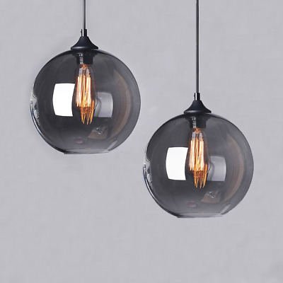 Vintage Modern Industrial Globe Glass Ceiling Lamp Pendant Light Shade Kitchen