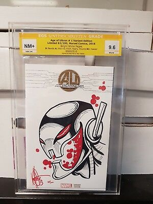 Age of Ultron #1 Variant Edition Limited, 2016 Sketch by Haeser Graded 9.6