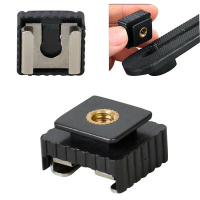 """Flash Hot Shoe Mount Adapter to 1/4"""" Thread For Studio Light Stand Tripod"""