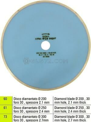 Diamond Blade Disc For Gres Fire Tiles For Electric Tile Saw Sigma