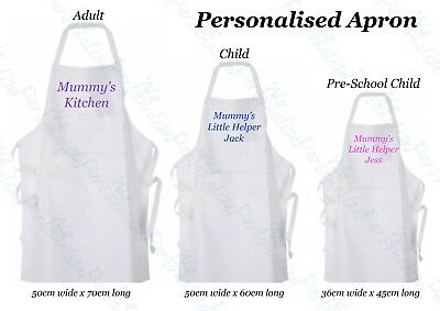 Personalised Apron for all sizes Father's Day Mother's day Birthdays wedding