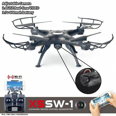 X5SW-1 Wifi FPV 2.4Ghz 4CH RC Camera Drone with 0.3MP Quadcopter RTF Black White