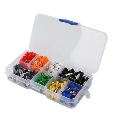 400Pcs Wire Copper Crimp Connector Pin End Terminal Ferrules Kit Set with Box