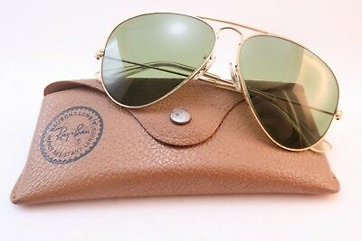 Vintage B&L Ray Ban aviator sunglasses etched BL lens size 58-14 made in the USA