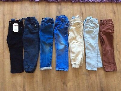 Bundle Of 7 Boys Jeans And Trousers Age 3-4 Years