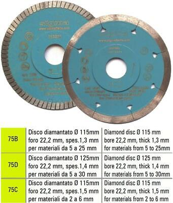Diamond Blade Disc For Fired Tiles Gres Marble For Electric Grinder Sigma