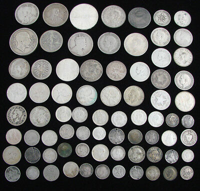*very Nice Assorted Lot Of Old Silver Coins From Various Countries*