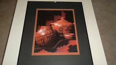 Hopi Indian Pottery- 24x28 Framed Picture- LOOK