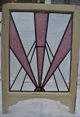 Art deco leaded light stained glass window. B511.  DELIVERY OPTIONS!!!