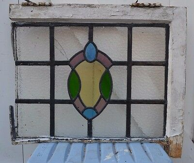 SCRAP. Leaded light stained glass window. S494c. WORLDWIDE DELIVERY!