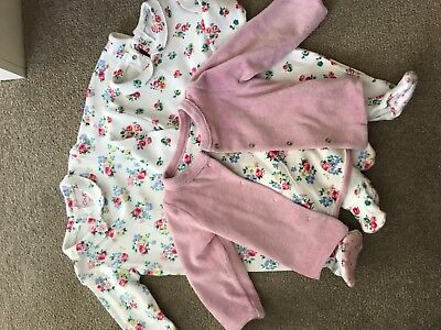 Baby Girl Cath Kidston All in Ones & Matching jacket 0-3 Bundle
