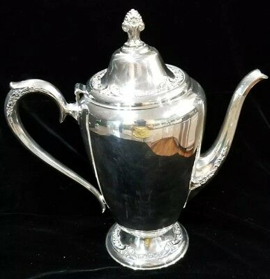 Vintage Rogers & Bros Silver Plate Coffee Pot #2301Ornate