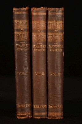 1877 3vol The Fall of Somerset William Harrison Ainsworth First Edition Scarce