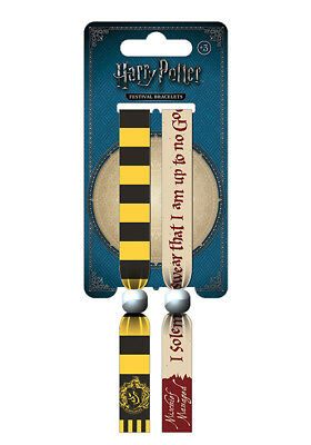 Harry Potter (Hufflepuff) Of 2 Fabric Festival Wristbands BY PYRAMID FWR68099