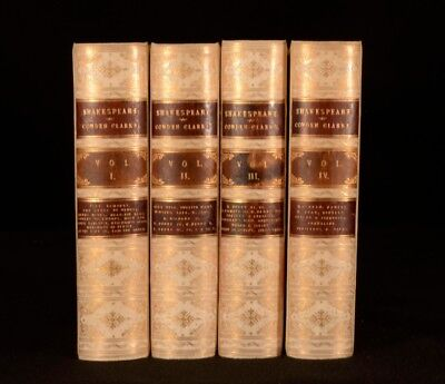 1887 4vol The Works of William Shakespeare Charles and Mary Cowden Clarke