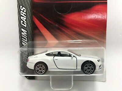 Majorette Bentley Continental GT V8 S white ech:1/64 Model diecast toy car