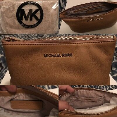 Michael Kors Tan Clutch Bag - Brand New Still In Package - PERFECT Condition