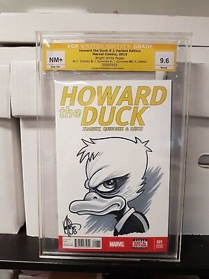 Howard the Duck #1, 2015 Signed and Sketched by Ken Haeser Graded 9.6